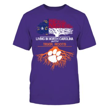 Clemson Tigers - Living Roots North Carolina - T-Shirt - Officially Licensed Fashion Sports Apparel