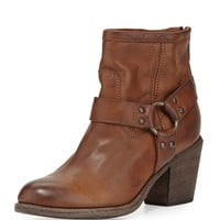 Tabitha Leather Harness Ankle Boot, Cognac - Frye