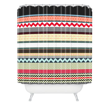 Sharon Turner London Beauty Stripe Shower Curtain