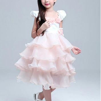 [20.99] In Stock Attractive Organza Scoop Neckline Ball Gown Flower Girl Dresses - dressilyme.com