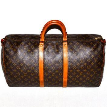 PEAPYD9 Make an Offer LOUIS VUITTON Keepall 55 Duffel Bag Large LV Monogram Weekend Travel Car