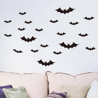 Mosunx Business DIY PVC Bat Wall Sticker Decal Home Halloween Decoration