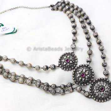 925 Sterling Silver Layered Necklace