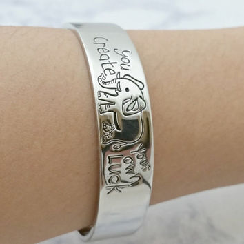 2016 New Unique Boho Friendship Bangle You Creat Your Own Luck Bracelets Fashion Vintage Cute Letter Bracelet For Women