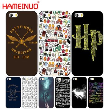 HAMEINUO Harry Potter Movie Poster cell phone Cover case for iphone 6 4 4s 5 5s SE 5c 6 6s 7 8 plus case for iphone 7 X