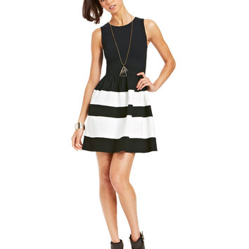 Bar III Striped Dress