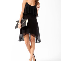 Essential Flounced High-Low Dress