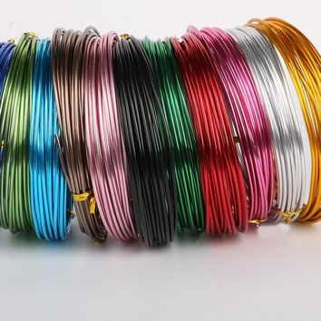 New Arrvial Multicolor 5m/roll 1.5mm Diameter colored aluminum wire for Jewelry Making DIY Metal Crafts