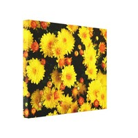 Bright Spring Yellow Floral Garden Wrapped Canvas