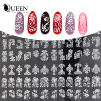 New Arrival Silver 3D Nail Art Stickers Decals,108pcs/sheet Stylish Metallic Mixed Designs Nail Tips Accessory Decoration Tool