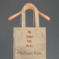 Michael Kors | Cotton Tote with Pocket | Skreened