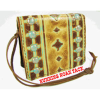Aztec Wristlet Wallet with Dots by Running Roan Tack
