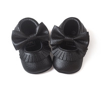 0-18M Fashion Baby Shoes Soft Sole Moccasin Newborn Babies PU Tassel Bowknot Slip-on Prewalkers Lisa's Store NW