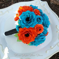 Flower Wedding Bouquet - Customize Your Colors - Made To Order