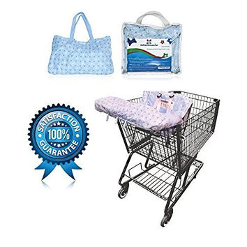 LIMITED TIME OFFER!!!! $18.98!!!! Grocery and Shopping Cart Cover by Infantmania - Highchair Cover, Cart Cover for Baby and Toddler - High Quality, Machine Washable