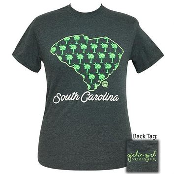 Girlie Girl Originals South Carolina Palmetto Preppy State T-Shirt