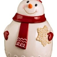 Grasslands Road Sweet Tidings Snowman Cookie Jar, 11-Inch