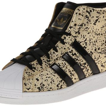adidas Originals Women's Superstar Up W Fashion Sneaker, Black/White/Gold, 7 M US