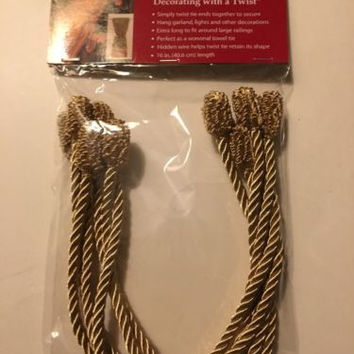 "Haute Decor Decorative Twist Tie Gold-Great For Birthdays,Xmas,Weddings-6 16"" pc"