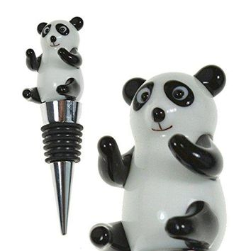 Glass Panda Wine Bottle Stopper 20+ Designs to Choose From  Colorful Unique Handmade EyeCatching Decorative Glass Wine Bottle Stopper hellip Panda