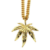 Stylish New Arrival Shiny Gift Jewelry Accessory Hip-hop Leaf Hot Sale Necklace [10529027139]