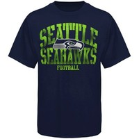 Seattle Seahawks Fantasy Leader T-Shirt - College Navy -