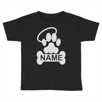 personalized paw halo Toddler T-shirt