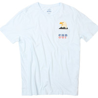 SUP Eagle with pocket, blue graphic tee by Altru Apparel