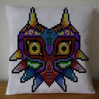 minecraft majoras mask the legend of zelda pillow case pillow cover
