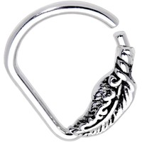 "16 Gauge 5/16"" Feather Flow Ellipse Septum Ring"