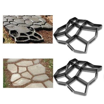 Garden decorated tools mold for concrete DIY Stone plastic mold pathways paving mold, pathmate shovel A  43*43*4cm
