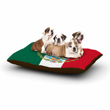 "Bruce Stanfield ""Mexico Flag And Coat Of Arms"" Red Green Dog Bed"