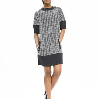 Banana Republic Womens Colorblock Jacquard Shift