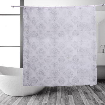 PEVA Plastic Bath Curtains Waterproof Shower Curtain Bathroom Product With Hooks Wear-resistant Curtain For Home Decor