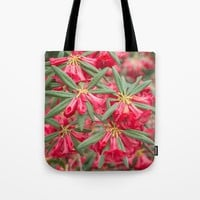 Red Rhododendron Tote Bag by Errne