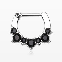 Brilliant Eri Sparkle Septum Clicker Ring