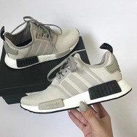 ADIDAS Women Running Sport Casual Shoes NMD Sneakers GREY1