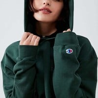 Champion & UO Powerblend Mini Logo Hoodie Sweatshirt - Dark Green