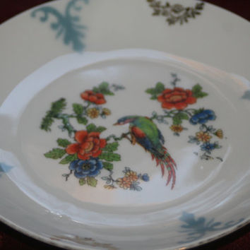 Hand Painted German Vessra Plate, Collectible Plate