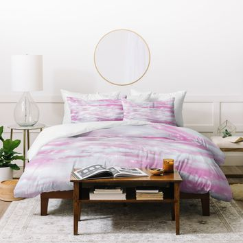 Lisa Argyropoulos Dream Big In Pink Duvet Cover