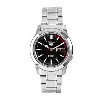 Seiko 5 SNKK31 Men's Watch Automatic Stainless Steel Black Dial with Day/Date