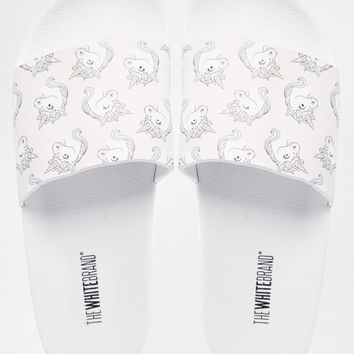 The White Brand Unicorn Slider Flat Sandals