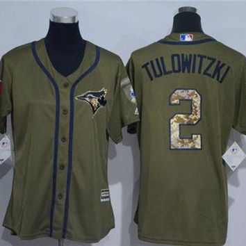 Women's Toronto Blue Jays #2 Troy Tulowitzki Cool Base Player Jersey