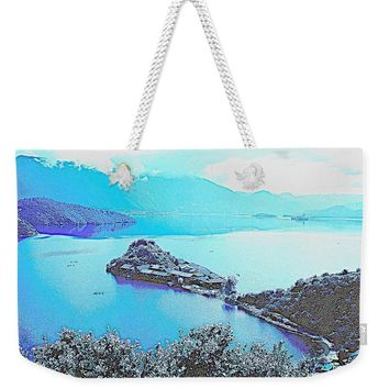 Rigby Island Sunny Days Lugu Lake China - Weekender Tote Bag