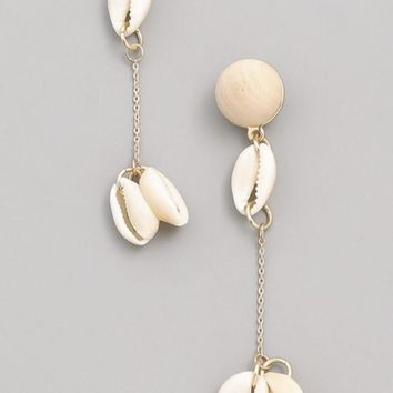 Cowrie Shell Drop Dangle Earring