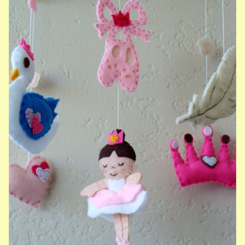 Hanging Mobile Dancing Bella the ballerina custom by hingmade