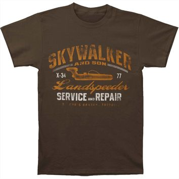 Star Wars Men's  Landspeeder T-shirt Grey Rockabilia