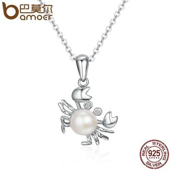 BAMOER New Arrival 925 Sterling Silver Lovely Cancer Constellation Pendant Necklace for Women Sterling Silver Jewelry SCN114