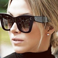 Luxury Brand Design Cat Eye Sunglasses