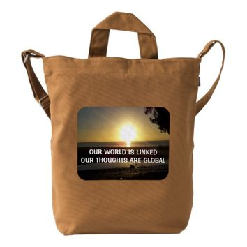 Global Photo Quote by Kat Worth Duck Bag